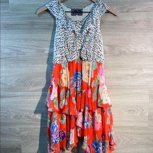 Sara Sara floral/polka dot summer dress